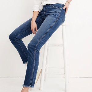 Madewell Slim Straight Jeans: Raw-Hem Edition - 28